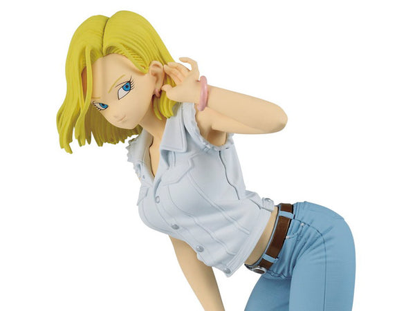 Dragon Ball Z Glitter & Glamours Android 18 (White Shirt) BY BANPRESTO- maximus collectors toys and gifts