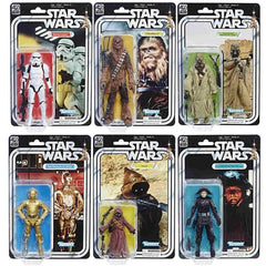 "Star Wars 40th Anniversary The Black Series 6"" Wave 21 Set of 6"