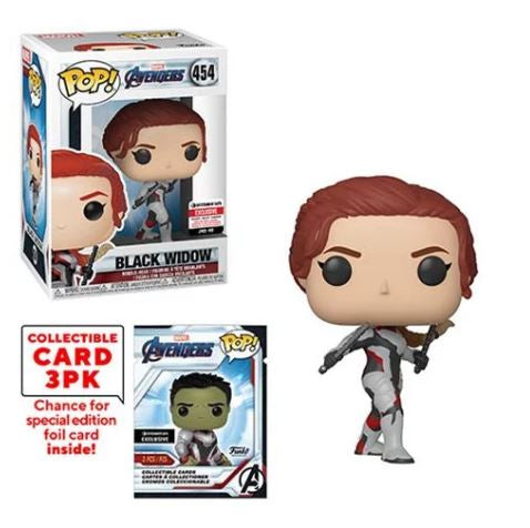 Avengers: Endgame Black Widow Pop! Vinyl Figure with Collector Cards - Entertainment Earth Exclusive- Maximus Collectors toys and gifts