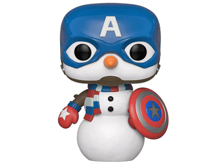 Pop! Marvel: Holiday - Captain America Snowman-Maximus Collectors
