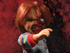 Child's Play 3 Mezco Designer Series Talking Pizza Face Chucky