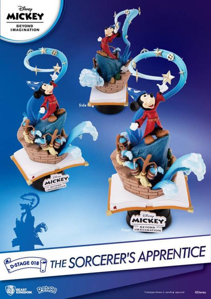 Disney D-Stage DS-018 The Sorcerer's Apprentice PX Previews Exclusive Statue- maximus collectors toys and gift