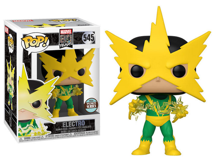 Pop! Marvel: 80th Anniversary Specialty Series - Electro (First Appearance)-Maximus Collectors