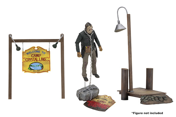 NECA - Friday the 13th - Accessory Pack - Camp Crystal Lake Set - Maximus Collectors Toys & Gifts