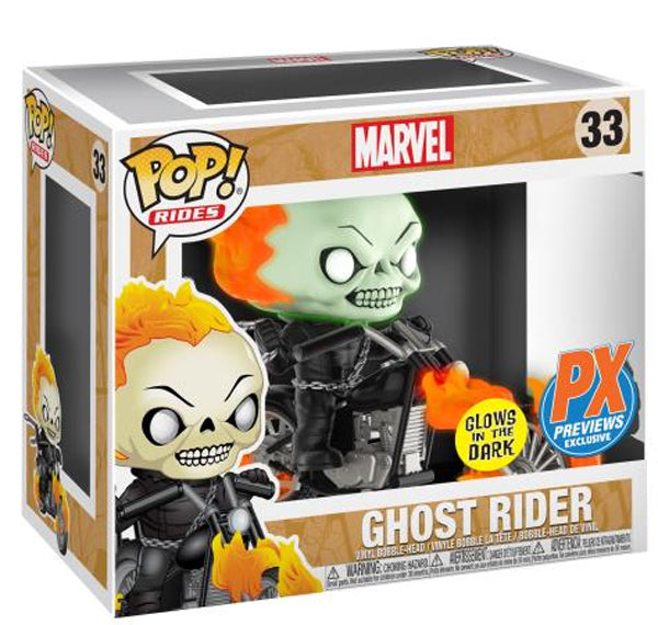 Funko Pop! Marvel Ghost Rider Glow in the Dark Exclusive PX - Maximus Collectors Toys & Gifts
