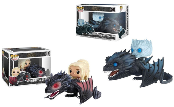Funko Pop! Game of Thrones Daenerys on Drogon & Night King on Icy Viserion