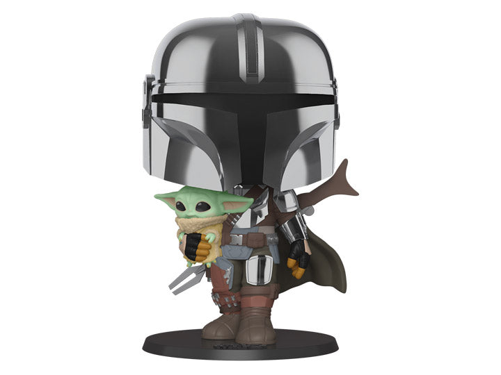 "Funko Pop! Star Wars: The Mandalorian 10"" inch with the Child"