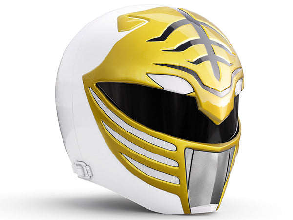 Mighty Morphin Power Rangers Lightning Collection White Ranger 1:1 Scale Wearable Helmet-Maximus Collectors