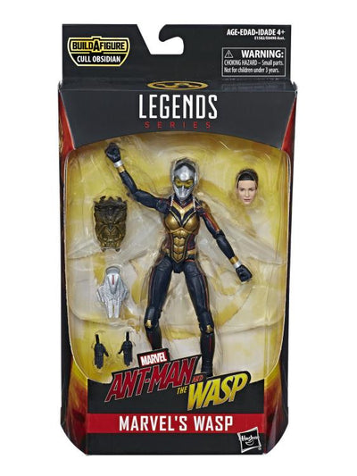 Ant-Man and the Wasp Marvel Legends Wasp 6 Inch Action Figure (Cull Obsidian BAF) - Maximus Collectors Toys & Gifts