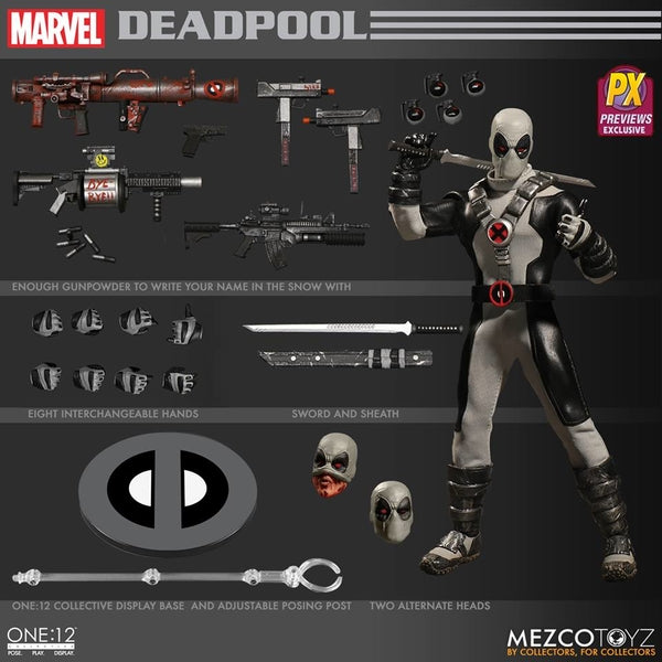 Mezco Toys One:12 Marvel Deadpool X-Force Action Figure - Maximus Collectors Toys & Gifts