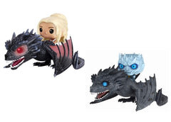 Funko Pop! Game of Thrones Daenerys on Drogon & Night King on Icy Viserion - Maximus Collectors Toys & Gifts