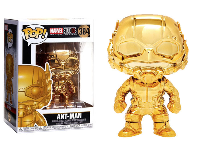 POP! Marvel Studios The First 10 Years: Ant-Man Gold Chrome - Maximus Collectors
