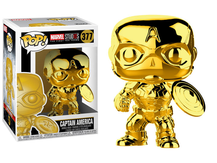 POP! Marvel Studios The First 10 Years: Captain America Gold Chrome - Maximus Collectors