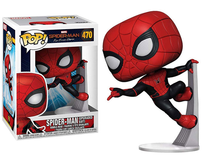 Pop! Movies: Spider-Man: Far From Home - Spider-Man (Upgraded Suit)-Maximus Collectors