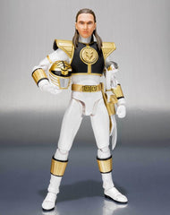S.H. Figuarts Mighty Morphin Power Rangers White Ranger (Tommy Head Sculpt) Figure