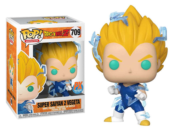 Pop! Animation: Dragon Ball Z - Super Saiyan 2 Vegeta PX Previews Exclusive-Maximus Collectors