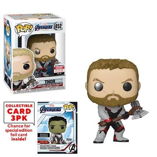 Avengers: Endgame Thor Pop! Vinyl Figure with Collector Cards - Entertainment Earth Exclusive maximus collectors toys and gifts