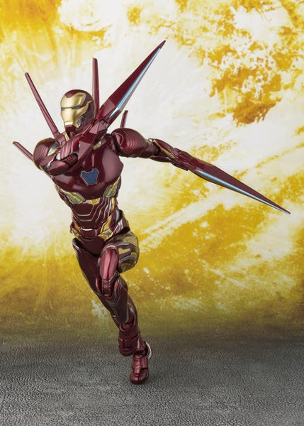 Avengers: Infinity War S.H.Figuarts Iron Man Mark L With Nano-Weapon Set - maximus collectors toys and gifts