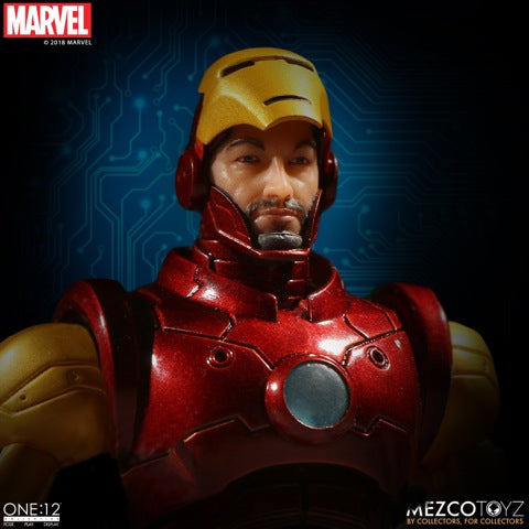 Mezco One:12 Collective Iron Man action figure-Maximus Collectors