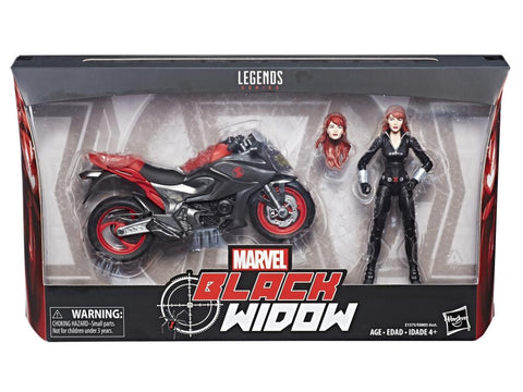 "Ultimate Marvel Legends Black Widow 6"" Figure with Motorcycle"