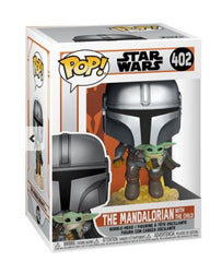 Funko Pop! Star Wars: The Mandalorian - Mandalorian (jetpack) with The Child