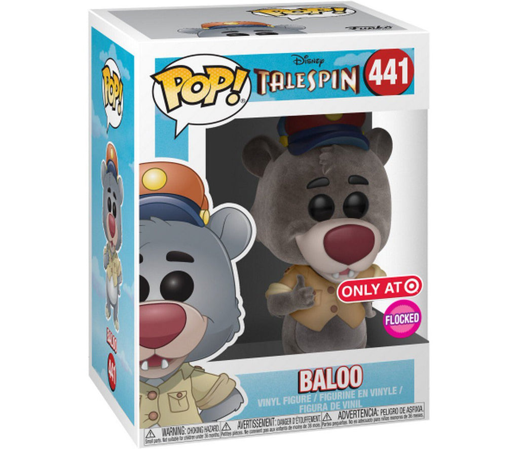 Talespin Baloo FUNKO POP #441 Target Exclusive Flocked-Maximus Collectors