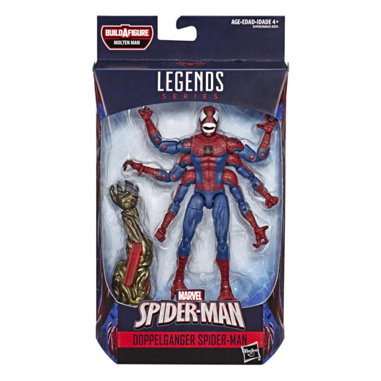 Spider-Man Marvel Legends Doppelganger Spider-Man Molten Man BAF