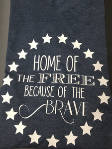 July 4th - Home of the Free Because of the Brave Circle
