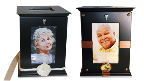 In Loving Memory Boxes decorated with photos