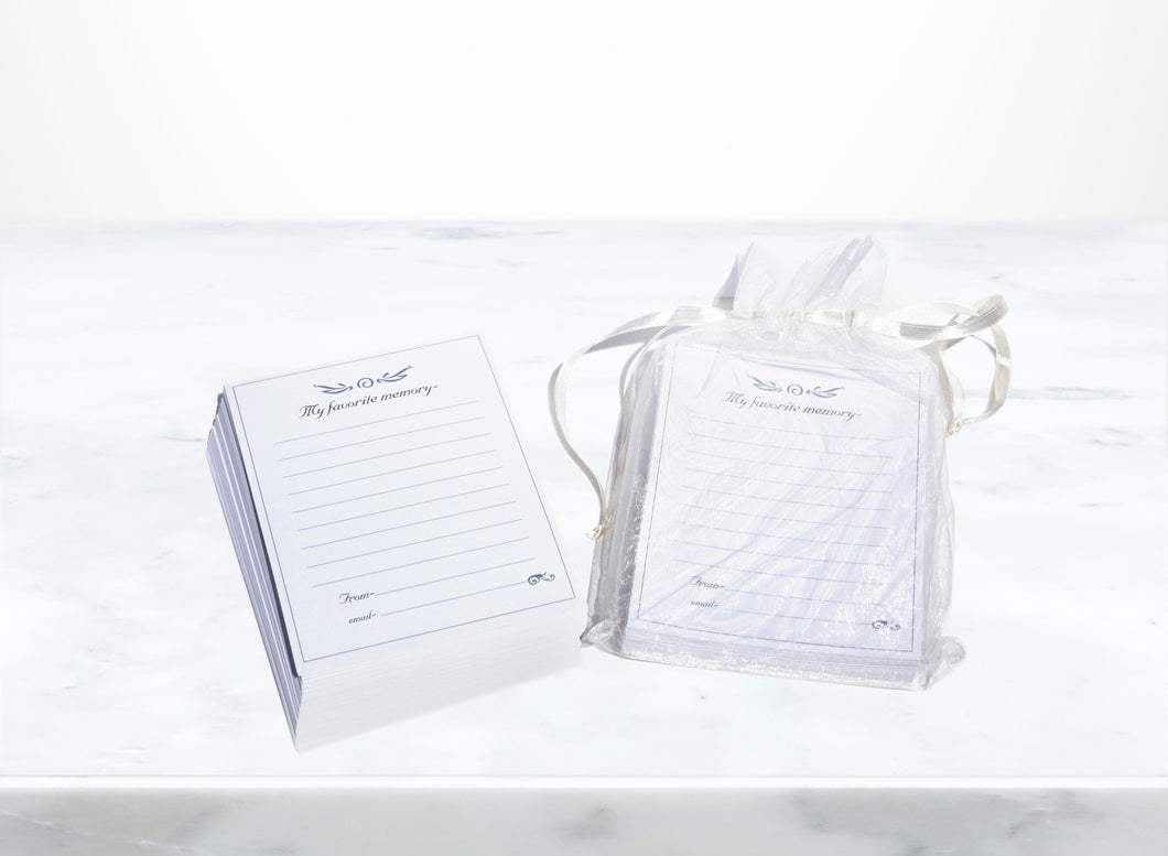 In Loving Memory Stationery Pack archival quality memorial stationery 100 sheets