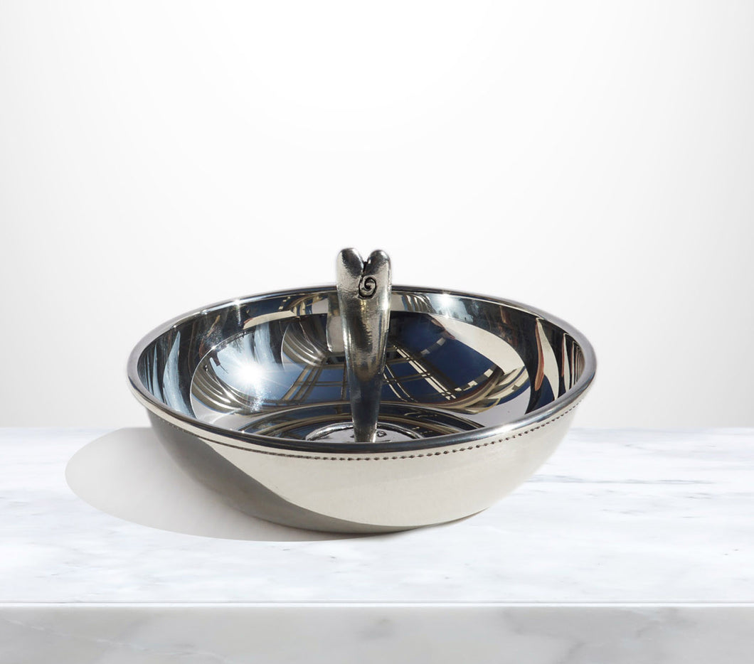 In Loving Memory Solid Pewter Heart Token Bowl used to distribute heart take away at services