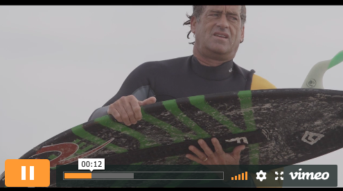 Tom Curren on Domke's Board