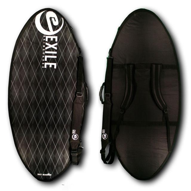 Standard Skimboard Travel Bag Travel Bags exileskimboards Black