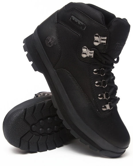 Timberland Classic Leather Euro Hiker Boots BLACK