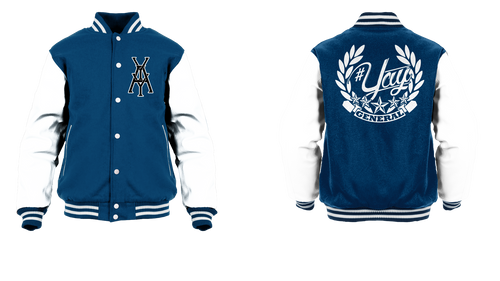 General Yay Monogram Logo Varsity Jacket