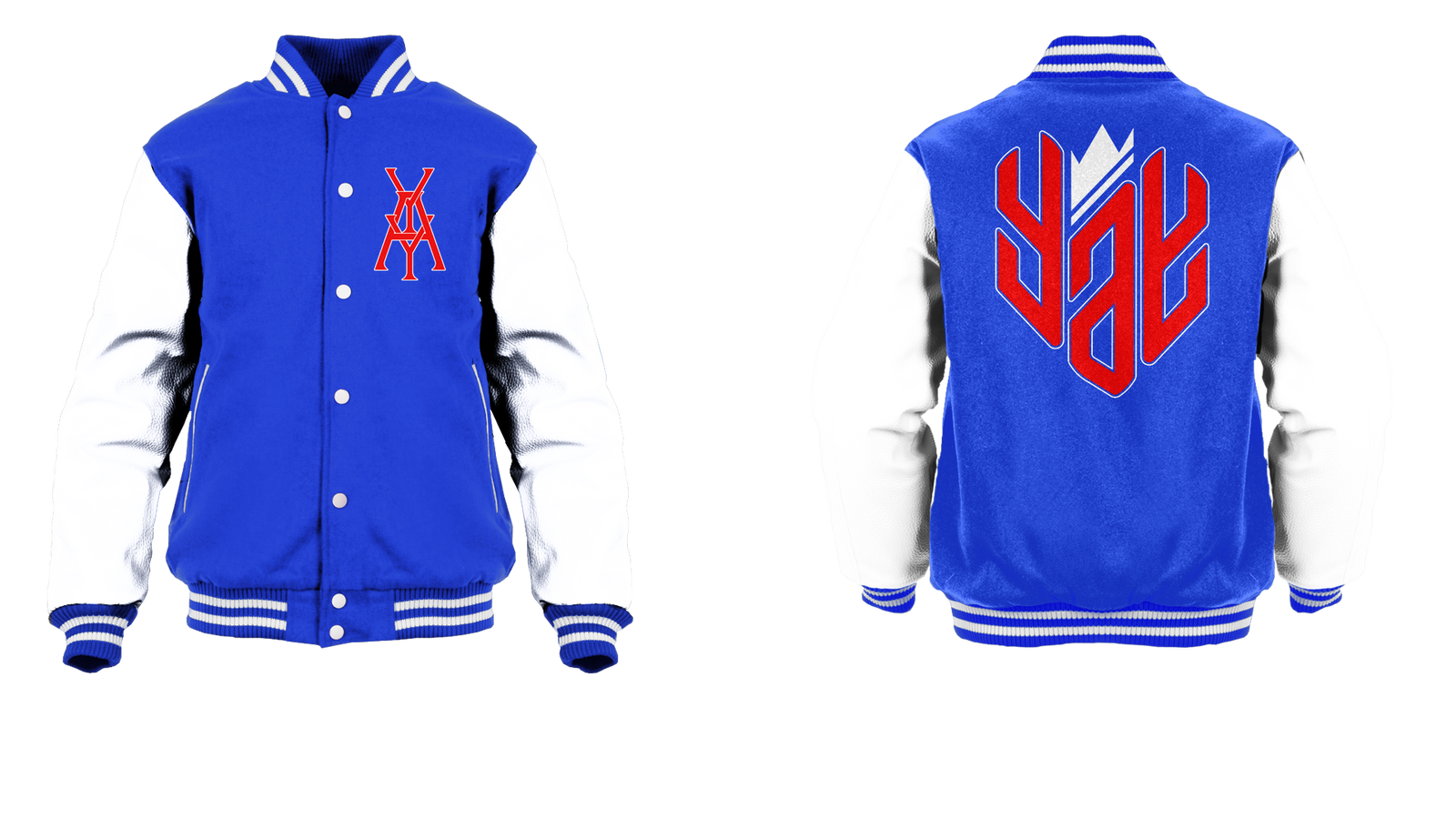 New Yay Monogram Logo Varsity Jacket