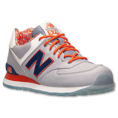New Balance Luau Collection ML574ILA Grey/Navy/Orange NB 574 Ice Soles