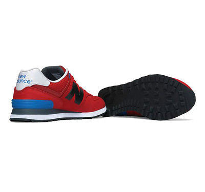 the best attitude ccbb7 5a448 ... New Balance Men s 574 Classics Ml574ACC Paint Chip Red black Retro ...