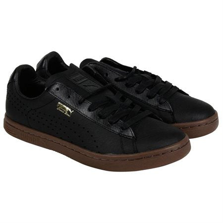 Puma Court Star Anml Leather Black Black Mens Lace Up Sneakers