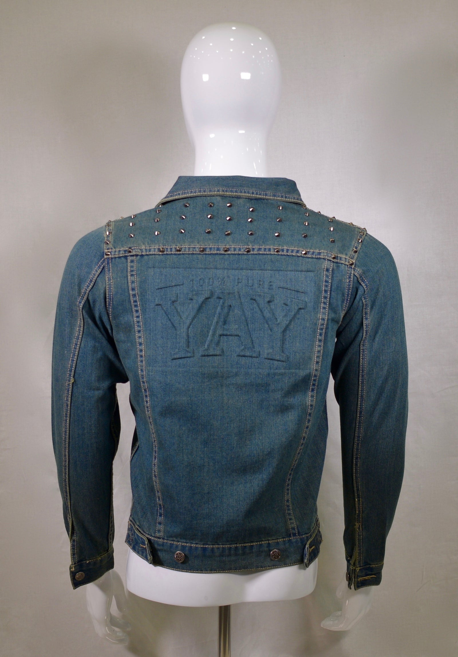 Chinx Yay Press Vintage Spiked Denim Jacket