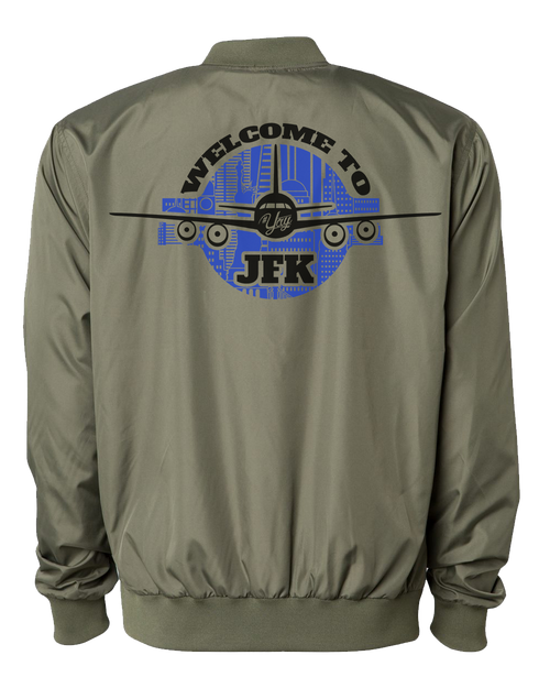 Diamond YAY JFK NYCBG Bomber Jacket (Army Green)