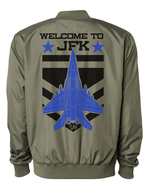 Diamond YAY JFK JET 2 Bomber Jacket (Army Green)