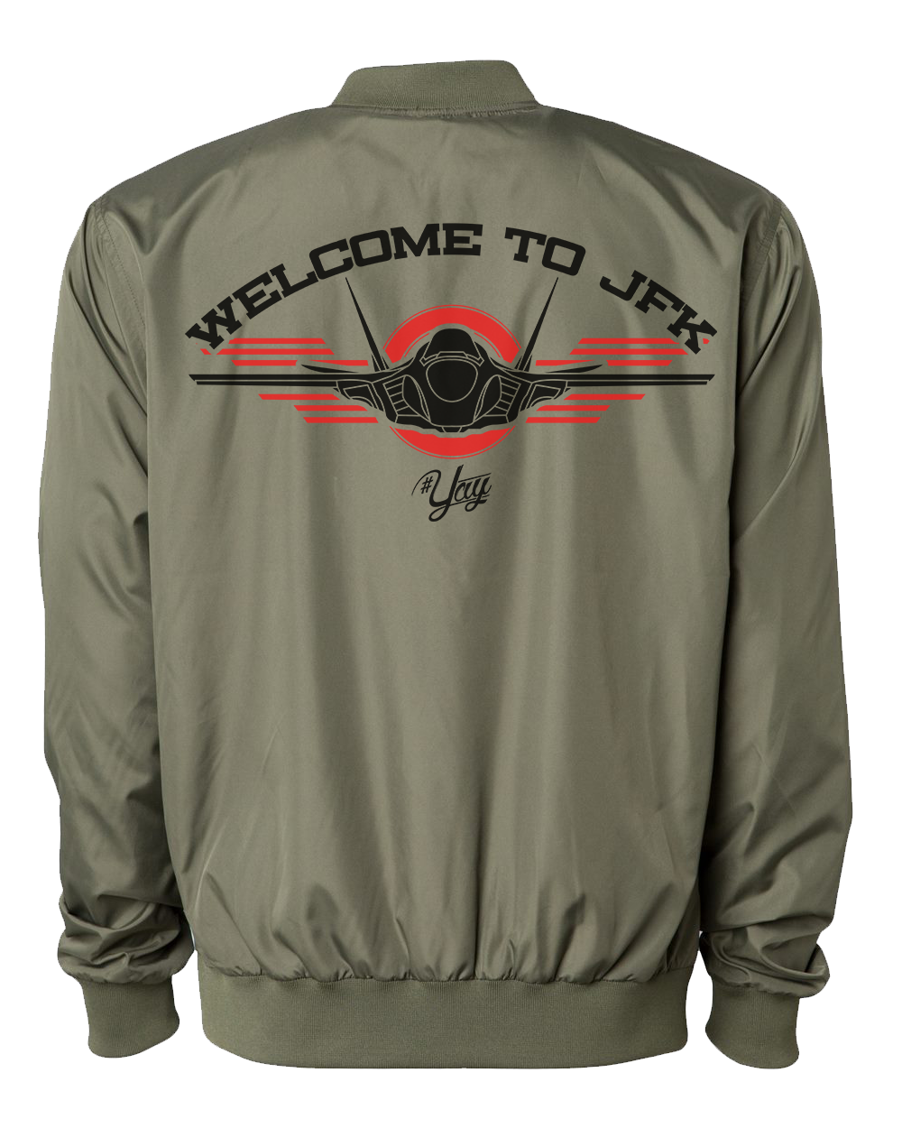 Diamond YAY JFK JET 1 Bomber Jacket (Army Green)
