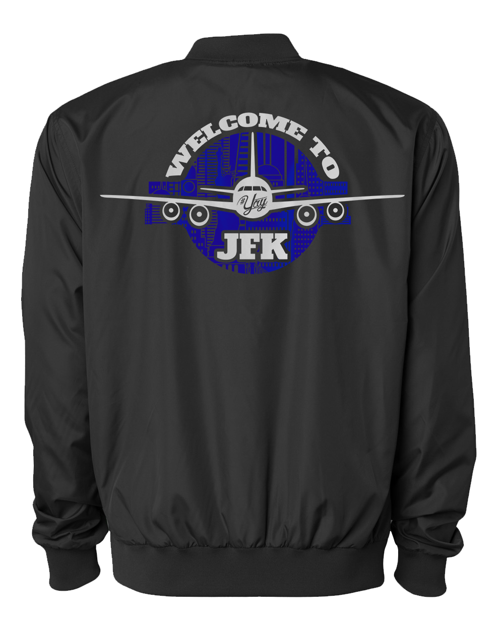 Mono YAY JFK NYCBG Bomber Jacket (Black)