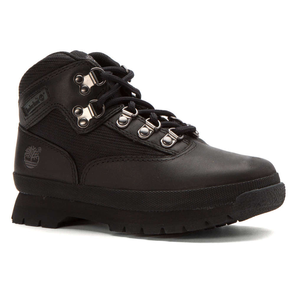 competitive price 441e4 27976 Timberland Classic Leather Euro Hiker Boots BLACK