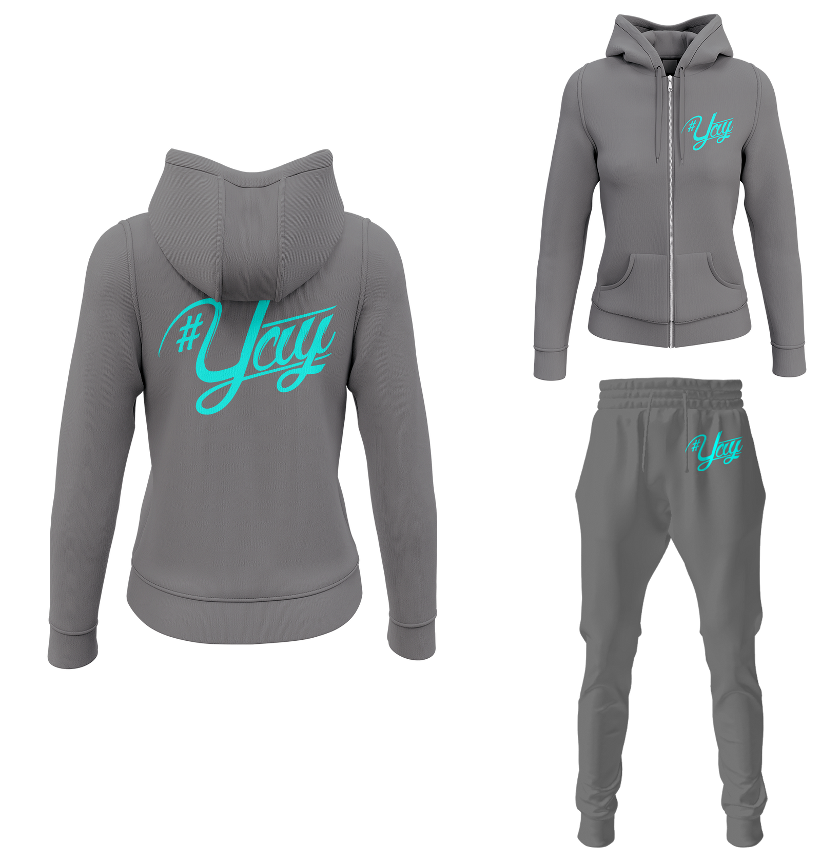 Women's Classic Yay Zipped Sweatsuits