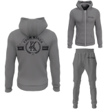 Four Kings Men's V1 Zipped Sweatsuit (Gray)