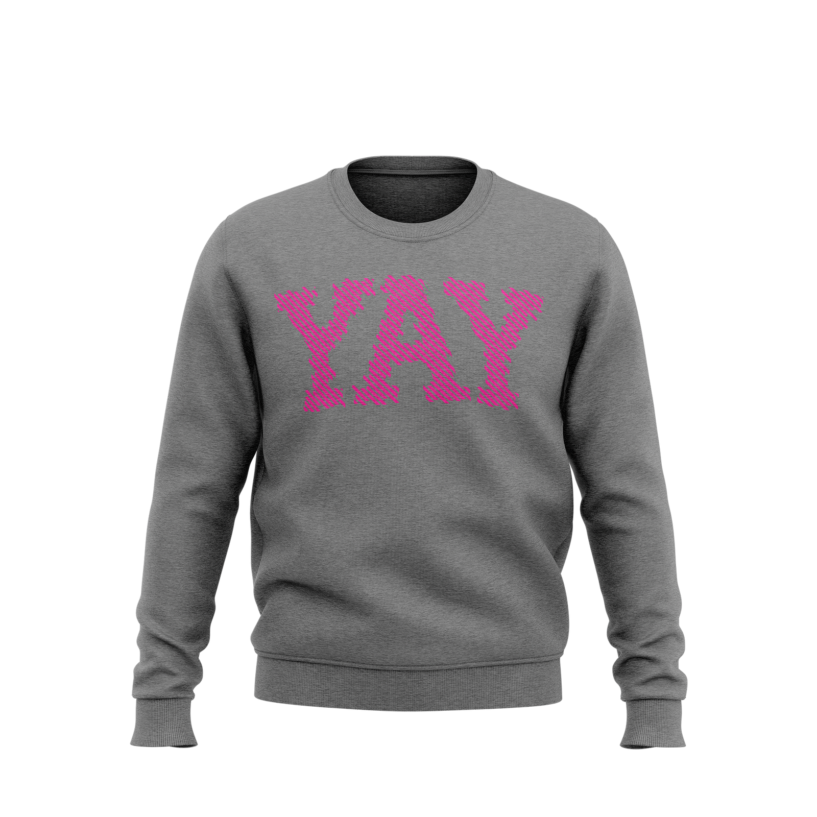 YAY Lines Crewneck Sweatshirt (Gray)