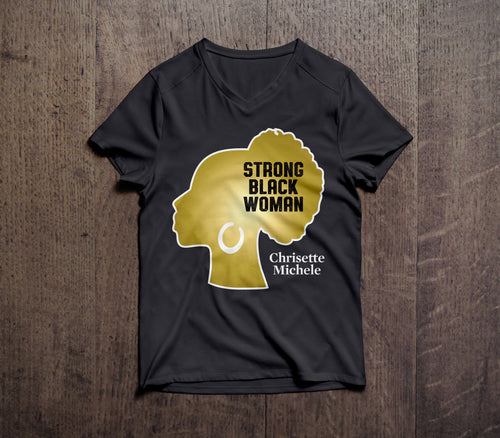 Strong Black Woman V-neck Tee