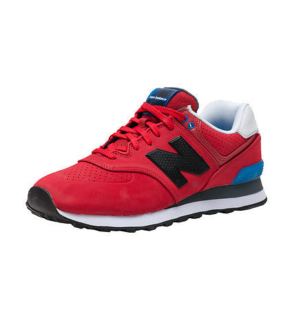 online store 20a47 7a523 New Balance Men's 574 Classics Ml574ACC Paint Chip Red/black Retro